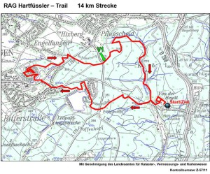 Hartfüsslertrail 14 km Strecke