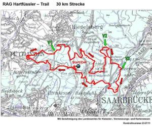 Hartfüsslertrail 30 km Strecke