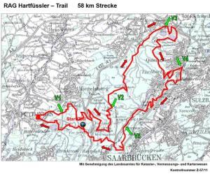 Hartfüsslertrail 58 km Strecke