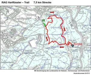 Hartfüsslertrail 7,5 km Strecke